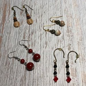 Four Pairs of Bohemian Style Earrings